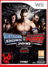 SMACKDOWN Vs RAW 2010 WWE Catch Wii Nintendo jeux Video compatible Wiiu Wii-U