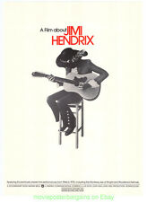A FILM ABOUT JIMI HENDRIX MOVIE POSTER ORIGINAL 1973 SOUNDTRACK PROMO