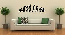 Wall Stickers Vinyl Decal Darwin's Theory Evolution Humor ig1598
