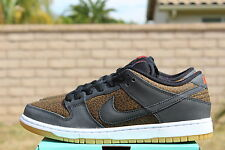 NIKE DUNK LOW PREMIUM SB SZ 12 GIRAFFE PRINT BLACK TEAM ORANGE 313170 018