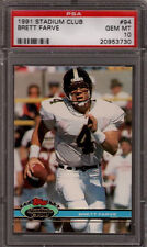 Brett Favre Farve Packers 1991 Stadium Club #94 Rookie Card rC PSA 10 Gem Mint