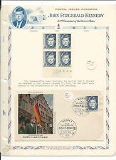 Germany & Guatemala, John F. Kennedy Collection on White Ace Pages, 3 Pages