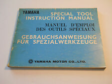 YAMAHA SPECIAL TOOL INSTRUCTION  MANUAL TX XS DT YZ DS XJ