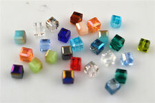 Bulk 50ps Mixed Color Crystal Glass Faceted Cube Beads Spacer Finding 6mm Charms