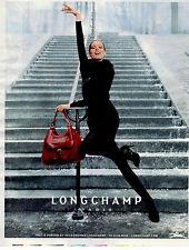 Publicité 2012  LONGCHAMP sac à main marque collection mode vetement