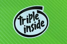 Triple Inside for Triumph Speed Triple Street Triple Decals Stickers PAIR #178B