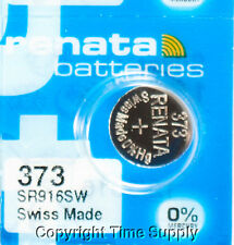 1 pc 373 Renata Watch Batteries SR916SW FREE SHIP 0% MERCURY
