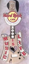 Hard Rock Cafe SURFERS PARADISE 2008 MUSIC IS LIFE Silver Axe GUITAR PIN #46823