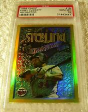 KIRBY PUCKETT 1996 TOPPS FINEST STERLING #18 RARE GOLD REFRACTOR PARALLEL PSA 10