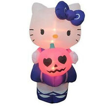 HALLOWEEN  5 FT  HELLO KITTY WITH PUMPKIN GEMMY  INFLATABLE AIRBLOWN