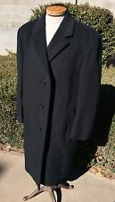 Jos A Bank Wool & Cashmere Charcoal Gray Top Coat Overcoat Men's 42 Reg (Large)