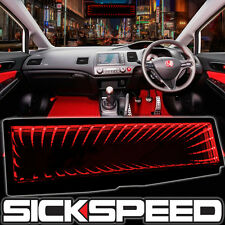 SICKSPEED GALAXY MIRROR LED LIGHT CLIP-ON REAR VIEW WINK REARVIEW RED P2