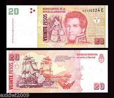 Argentina 2013 20 Pesos Series E P-New Mint Uncirculated UNC Banknotes