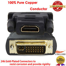 DVI Male to HDMI Female M-F Adapter Gold Plated Converter For HDTV