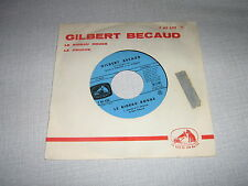 GILBERT BECAUD 45 TOURS FRANCE LE RIDEAU ROUGE+