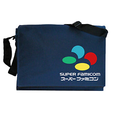 Super Nintendo Famicom SNES inspired Navy Blue Messenger Shoulder Bag