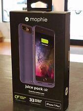 IPHONE 7 PLUS Mophie Juice Pack Air External Battery WIRELESS CHARGING Case BLUE