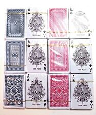 12 Decks Playing Cards Royal Brand Washable 100% Plastic, Free 1 empty case