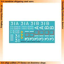 """1/35 M113A1 w/T50 Turrets """"BLOOD SWEAT & TEARS"""" Decals (water-slide) #MAD616"""
