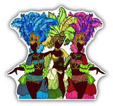 "Carnival Dancer Brazil Car Bumper Sticker Decal 5"" x 5"""
