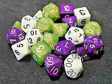 3 Full Sets of 7 Polyhedral Dice for RPGs Dungeons & Dragons Pathfinder games