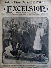 WW1 PDT POINCARé  ET BLESSé FRONT ITALIEN GUERRE DE MONTAGNE EXCELSIOR 29/8/1915