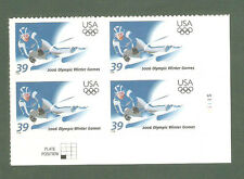 3995 Winter Olympics Plate Block Mint/nh (free shipping offer)
