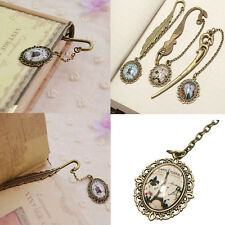1 Pcs Vintage Antique Alloy Bronze Metal Bookmark Pendant Label Signet Gift