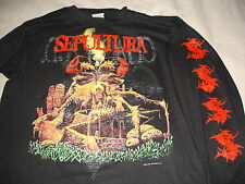 Vintage SEPULTURA  LS Long sleeve shirt Original 1992 Blue Grape Large L  TEST