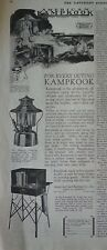 1928 American Kampkook Outdoor Cook Cooking Stove Camping Lantern Ad