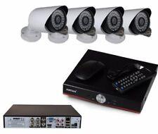 KIT VIDEOSORVEGLIANZA AHD DVR 4 CANALI 4 TELECAMERE HD INFRAROSSI P2P WIFI 3G