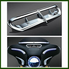 Chrome Fairing Vent Accent For Harley Touring Electra Glide Tri Glide 2014-2016