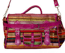 Leather Handbag Moroccan Handmade purse Women Shopping Bag Clutch Sabra Fushia