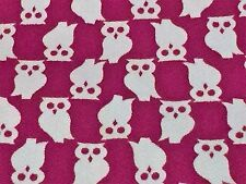 """Vintage Owl Fabric Retro Mod Twill Quilting sewing crafting 35"""" wide by 1/2 Yard"""