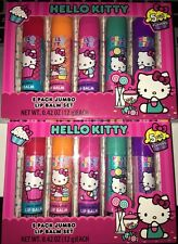 2 Boxes of Brand New HELLO KITTY by Sanrio 5pc Flavored Jumbo Lip Balm Set