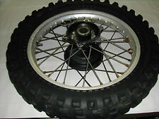 GENUINE  1984 HONDA XR200R REAR WHEEL ASSEMBLY WITH 5.10-17 TIRE 1985