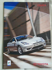 Toyota Celica range brochure Sep 2002 Irish market