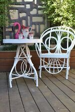 Vintage  outdoor table and chair hardwood  garden furniture shabby chic