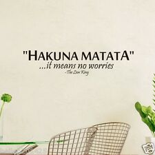Hakuna Matata Lion King Quote Wall Sticker Home Decor Letters Decals Removable