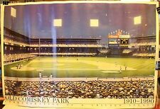 "1991 Chicago White Sox Old Comiskey Park Artist Signed 24 x 36"" Poster Weare"