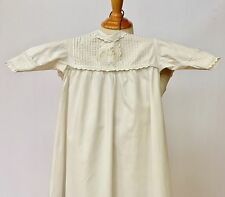 Vintage CHRISTENING Gown, White Antique Dress Ayrshire Embroidery Baby Doll Old