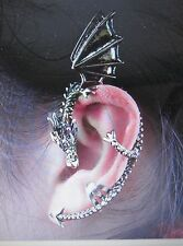 One Dragon Ear Cuff Bite Goth D&D Punk Fantasy Left Earring