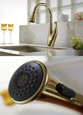 Gold Swivel Spout Kitchen Sink Faucet Pull Out Sprayer Mixer Tap Vero