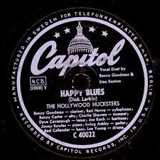 HOLLYWOOD HUCKSTERS  Happy Blues (Voc. Goodman & Kenton) / Them there eyes X1867