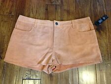 NWT   Ret. $216 . Joe's Jeans Shorts  31  Suede Leather Shorts   Rust Brown