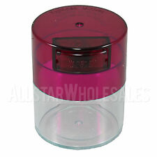 Tightvac Minivac Airtight Odorless Vacuum Sealed Container Jar 1.4oz/.12L - Rose