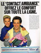 Publicité Advertising 1989 France Telecom