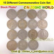 Very Rare 15 Different Copper Nickel 1 Rupee Commemorative One Rupee Coins Set