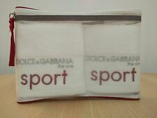 D&G THE ONE SPORT Set of 2 Towels - Face/Hand Towels in Zippered Bag - NEW