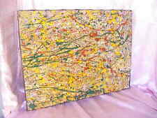 VINTAGE MID CENTURY MODERN ART ABSTRACT EXPRESSIONIST ORIG PAINTING POLLOCK STYL